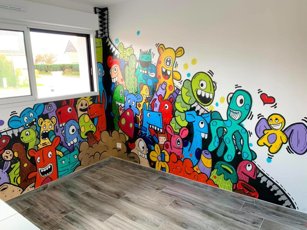 Fresque murale Lucas